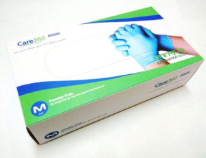 Фото нитриловые перчатки Care 365 (100 и 200 шт)