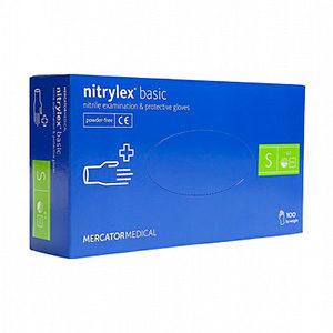 ерчатки нитриловые неопудренные, рекомендованные лицам с аллергией на латекс, упакованы по 100 штук